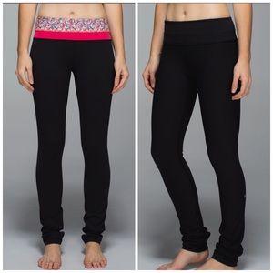 Lululemon skinny groove pants reversible 12 black